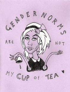 Trans Student Educational Resources — Gender norms are not my cup of tea. Style Androgyne, Non Binary Gender, Riot Grrrl, Gender Roles, Genderqueer, Intersectional Feminism, Androgyny, Patriarchy, Social Issues