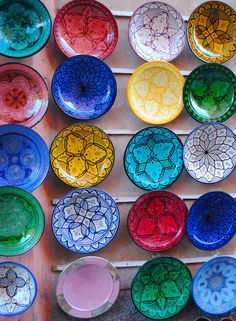 Ceramic wall decorations or plates - from a Marrakesh souk
