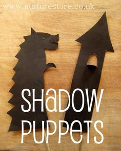 Do your kids like to play with puppets? Mine love them for imaginary play and story telling. Another great rainy day activity!  Here's a tutorial on how to make shadow puppets, plus links to other puppet ideas.
