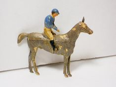 Vintage Dresden Horse and Jockey Christmas Ornament, Holiday