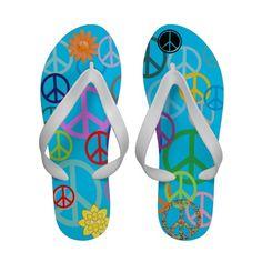 Peace Everywhere Flip Flops