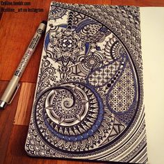 FIBONACCI OR GOLDEN SPIRAL - #zentangle #doodle #drawing #moleskine #illustration #sketchbook #artwork #mandala #artpiece #sketching #sketches #notebook #zendoodle #creative #ink #doodling #artstag #pattern #sketchpad #pencil #doodleart #zenart #zendoodle #zentangleart #mandalaart #colors #zentangled #zentangles #doodles #dessin #bw #bnw #blackandwhite #black #noir