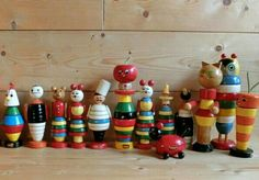 Vintage Brio stacking toys Brio Toys, Bauhaus Art, Stacking Toys, Plastic Glass, Wooden Animals, Childhood Toys, Wood Toys, Antique Toys, Toy Boxes