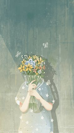 "Ho appena pubblicato "" ~Yoon-gi~ "" della mia storia "" My heart is a flower that comes from concrete "". Anime Scenery Wallpaper, Aesthetic Pastel Wallpaper, Cute Wallpaper Backgrounds, Aesthetic Wallpapers, Iphone Wallpaper, Daisy Wallpaper, Moving Wallpapers, Flower Backgrounds, Galaxy Wallpaper"