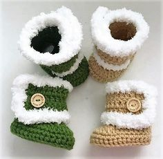 Easy to Crochet Baby Booties Pattern Tutorials - Crochet Patterns Crochet Ideas, Free Crochet, Knit Crochet, Crochet Patterns, Crochet Baby Booties Tutorial, Baby Sneakers, Crochet Shoes, Boot Cuffs, Crocheting