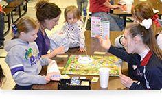 Kids and board games = fun!