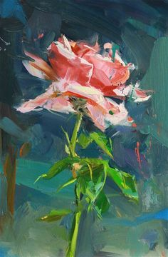 ❀ Blooming Brushwork ❀ garden and still life flower paintings -