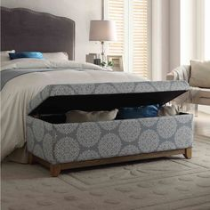 HomePop Large Wood Apron Storage Bench
