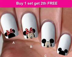 minnie nail decal – Etsy SG