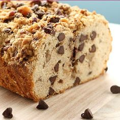Chocolate chip bread. It is like a cross between pound cake and coffee cake. Major win.