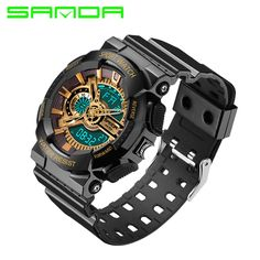 SANDA Men Sports Watches S-SHOCK Military Watch Waterproof Luxury Analog Quartz Digital Fashion Wristwatches relogio esportivo