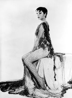 Audrey Hepburn publicity photo for the play, 'Ondine', 1954. (Ondine of course being the mermaid, this belongs here.)