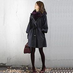 Women's Hooded Parka Coat – USD $ 30.50