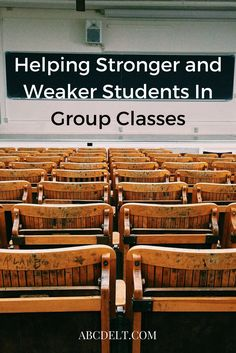 In group classes, there are always stronger and weaker students. How can you help them the most?