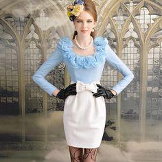 Girl Fashion, Fashion Dresses, Girls Dresses, Dresses For Work, Pink Doll, Dress Images, Vintage Style Dresses, Elegant Outfit, Lace Skirt
