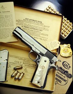 Colt 1911. pistol, guns, gun, weapons, weapon, self defense, protection, protect, concealed, 2nd amendment, america, 'merica, firearms, firearm, caliber, ammo, shell, shells, ammunition, bore, bullet, bullets, munitions #guns