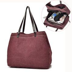 Canvas Casual Large Capacity Handbag Shoulder Bag For Women Canvas Tote Bags