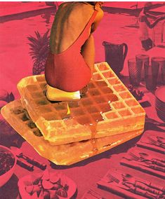 Must feel awesome to sit on a butty, um...buttERY hot waffle in swimsuit. (by Beth Hoeckel)