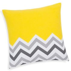 Kissenbezug aus Baumwolle, gelb/grau, 40 x 40cm, AMADORA