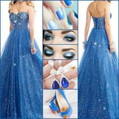 Definitely prefer this dress for my prom, anyone like it? #PromDress #PartyDress #Earrings #Shoes #Fashion #NewFashion