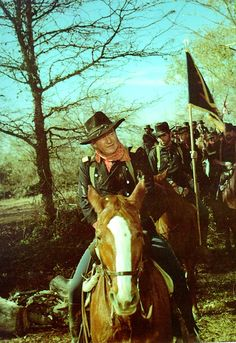 John Wayne in The Horse Soldiers (1959). This movie was filmed in Natchitoches, Louisiana.