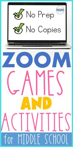This collection includes 60 games and activities that middle schoolers can play on Zoom or any other video conferencing platform. Make your virtual classroom engaging by challenging students to play these remote learning games. This resource includes 10 types of Brain Breaks that help improve memory encoding, information processing, and listening comprehension. Since each activity is designed to take a short amount of time, they work great as warm-ups, lesson extenders, or enrichment… Information Processing, Enrichment Activities, Middle Schoolers, Brain Waves, Brain Breaks, Learning Games, Teaching Materials, Remote, Classroom