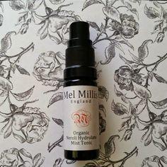 Mel Millis Organic Neroli Hydrolate Mist Tonic & Organic Phytonutri Neroli & Baobab Re-Energising Face Oil. Cleanser And Toner, Face Oil, Cleansers, Mists, Organic, Bottle, Flask