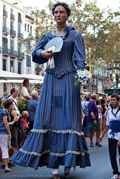 La Merce (Giants Parade) Festa major de Barcelona  Catalonia