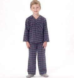Cozy sleepwear sewing pattern for the whole family, from McCall's. M7299, Misses'/Men's/Boys'/Girls' Top, Nightshirt and Pants