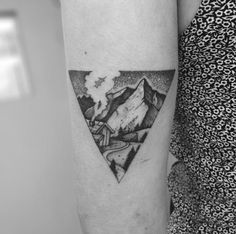 Triangular Landscape Tattoo by Tom Tom