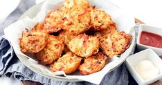 Cheesy Hash Brown Puffs - They're just like hash browns… just better! They're baked, not fried, and finished with oozy -