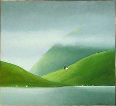 Færøerne - www.albertbertelsen.dk Oil Paintings, Landscape Paintings, Watercolor Paintings, Faroe Islands, Beautiful World, Vikings, Scandinavian, Street Art, Wall