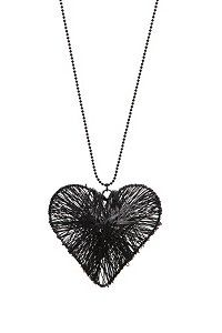 Black wire heart necklace from Hot topic