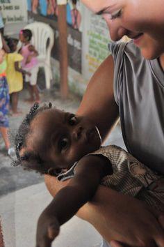 Beautiful baby orphan in Haiti.