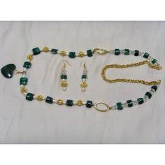 Malachite, pearl and crystal necklace, Malachite, Crystal Necklace, Gemstone Jewelry, Women Jewelry, Beaded Bracelets, Range, Jewellery, Pearls, Gemstones