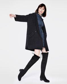 Cizme peste genunchi cu toc de 4.5 cm. Elegante si comode. Your Style, Elegant, Leather Boots, Casual, Fashion, Classy, Moda, Fashion Styles, Fashion Illustrations