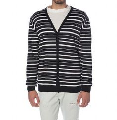 Nautical Striped Cardigan Midnight Blue