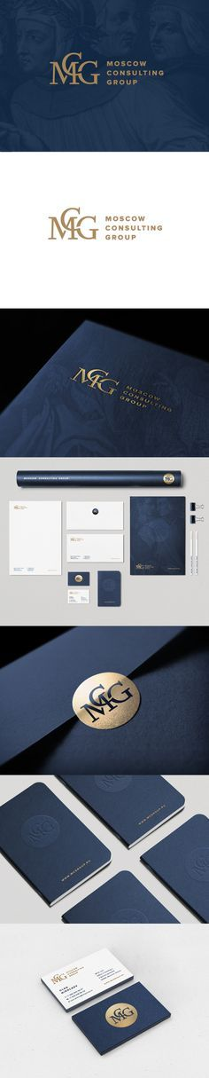 Moscow Consulting Group identity web design by Nika Levitskaya, via Behance Business Branding, Corporate Branding, Business Card Design, Logo Branding, Business Cards, Brand Identity Design, Corporate Design, Branding Design, Ci Design
