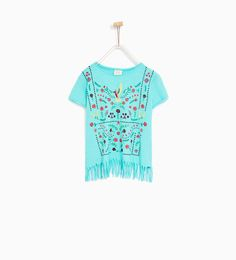 T-SHIRT WITH FRINGES - Available in more colours