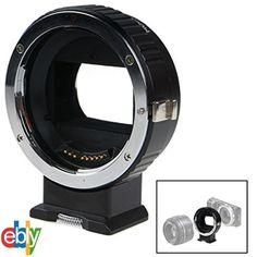 Auto Focus Lens Adapter Ring for Canon EF EF-S to SONY NEX E IS Exact Exposure…
