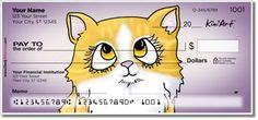 Orange and white Kitty checks by Kim Niles