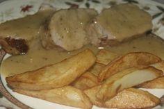 Solomillo de cerdo al horno en salsa