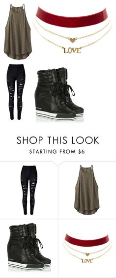 """""""Untitled #89"""" by kourtneyavery ❤ liked on Polyvore featuring beauty, prAna, DKNY and Charlotte Russe"""