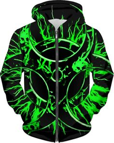 Green Biohazard hoodie, toxic fallout danger, bio-waste symbol, electrified sign themed hooded sweatshirt - for more art and design be sure to visit www.casemiroarts.com, item printed by RageOn at www.rageon.com/a/users/casemiroarts - also available at www.casemiroarts.com This product is hand made and made on-demand. Expect delivery to US in 11-20 business days (international 14-30 business days). (time frames are aproximate) #hoodie #clothing #style #unique #hoody