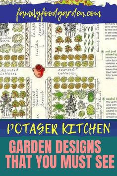 A garden located close to your kitchen is called a potager. It is designed to give you easy access to your homegrown fresh herbs and vegetables. Family Food & Garden has put together an easy to follow guide showing you all that you need for your potager. It will take a bit of time to plan and carefully layout a proper kitchen garden. With patience and diligence byn following our guide you will be very happy with the results of your efforts. #potagerplans #kitchengarden #potagerdesign Healthy Fruits And Vegetables, Garden Design Plans, Design Your Kitchen, Diligence, Tomato Plants, Fresh Herbs, Garden Planning, You Must, Easy Access