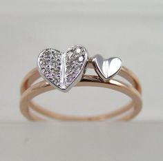 <3 silver hearts ring - jewelry - fashion accessories - love - gift - VALENTINE'S day <3