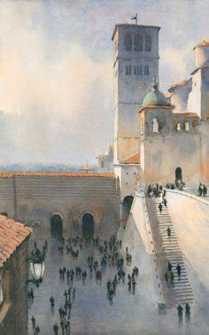 """Michael Reardon  Piazza Inferiore di San Francesco, Assisi 21 May 2014 23"""" x 14"""""""