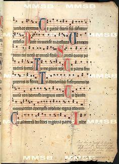 Antiphonarium Cisterciense. - Antiphon Queen Elizabeth Richensa. Date 1317 Sig: R 600 Folio 222r
