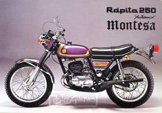 Montesa Rapita Only 400 units made. Quite nice ! Enduro Motorcycle, Motorcycle Posters, Moto Bike, Honda Cb, Cool Motorcycles, Vintage Motorcycles, Street Tracker, Motos Trial, Trial Bike