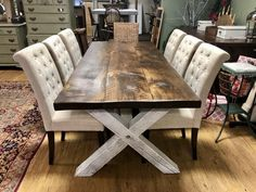 Farm Style Table x - Country Kitchen Farmhouse Sophie Farmhouse Dining Room Table, Dinning Room Tables, Rustic Table, Rustic Kitchen Tables, Rustic Decor, Table Design, Dining Room Design, Country Furniture, Farmhouse Furniture